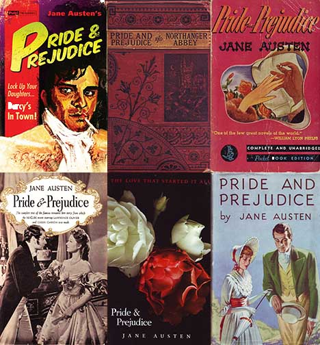 Book covers of 'Pride and Prejudice'