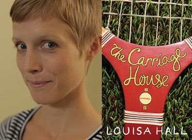Louisa Hall and the cover of 'The Carriage House'