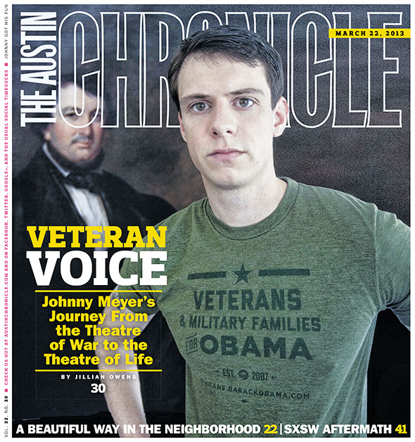 Austin Chronicle Cover featuring Johnny Meyer