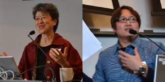 Helen Zia, Journalist; and Dominic Yang, Postdoctoral Fellow, UBC, and future IHS Fellow in 2013-14