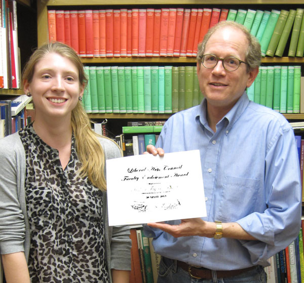 Prof. Taylor with classical archaeology major Katelin McCullough