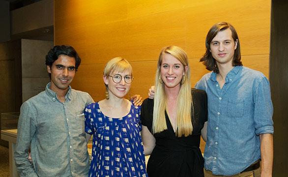 Karan Mahajan, Jenn Shapland, Katherine Noble, and Corey Miller