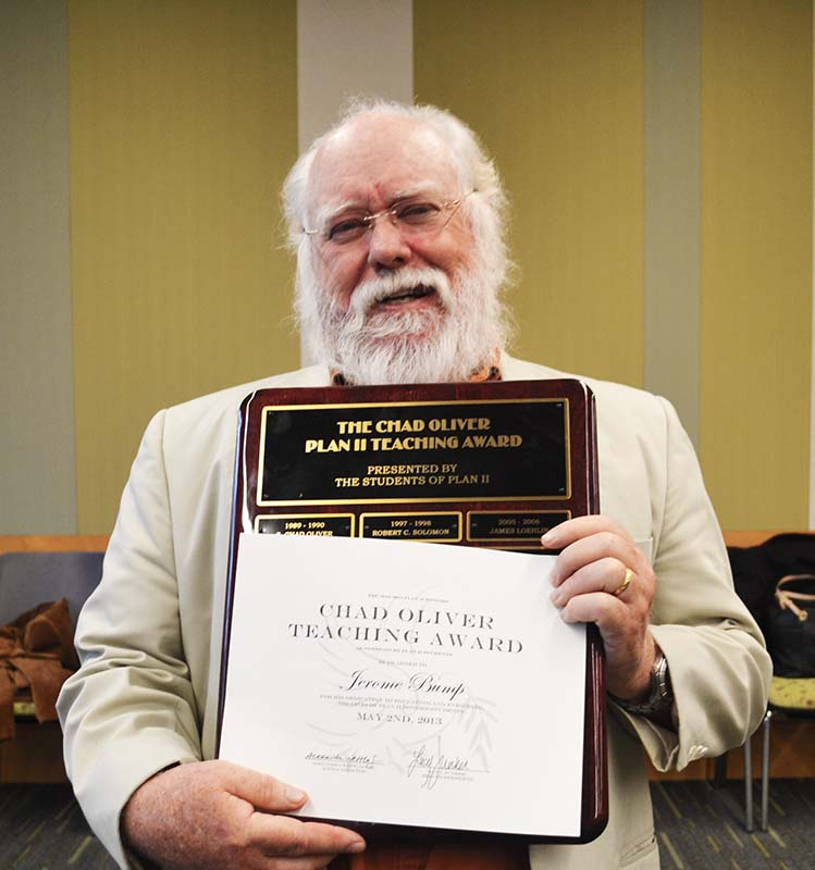 Jerome Bump with his Oliver Award