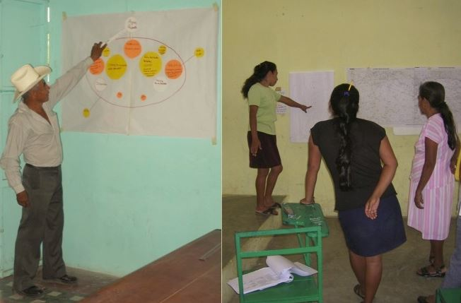 Participatory appraisal workshops with migrant family members  in Veracruz Mexico (Torres and Carte, 2013)
