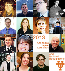 2013 Academic Career Launches and National Recognitions