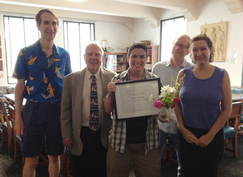 Beth Chichester awarded Staff Excellence Award from the College of Liberal Arts