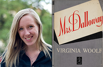 Photograph of Kelsey McKinney by Elisabeth Dillon; cover of Mrs. Dalloway