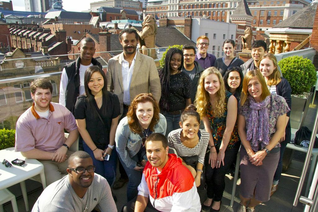 Dr. Ben Carrington with students in Leeds, England, 2013.