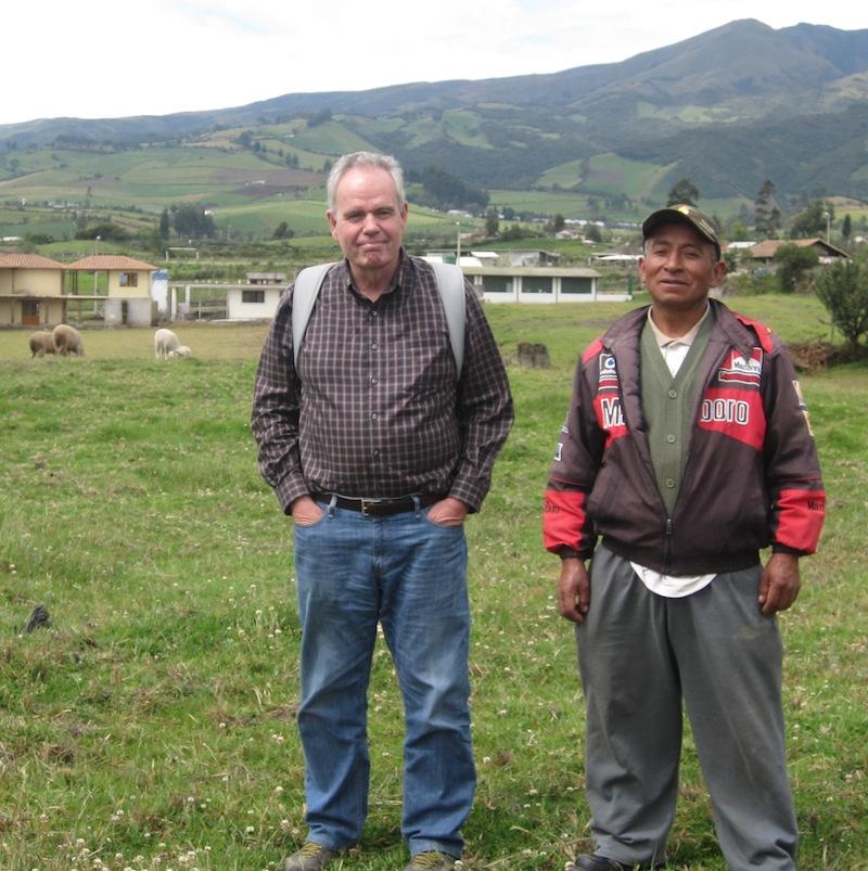 Prof. Knapp visiting a community development project in northeastern Pichincha province, Ecuador.