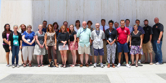 Participants in the Gilder Lehrman Institute, June 24-28, including Profs. Jeremi Suri and Joan Neuberger. Photo by Sean Patrick, LBJ School.