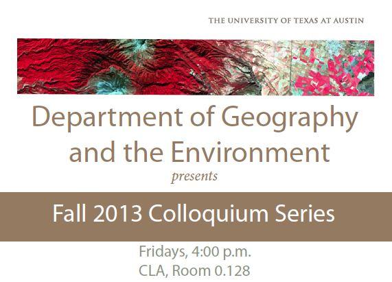 Announcement: Fall 2013 Colloquium Series