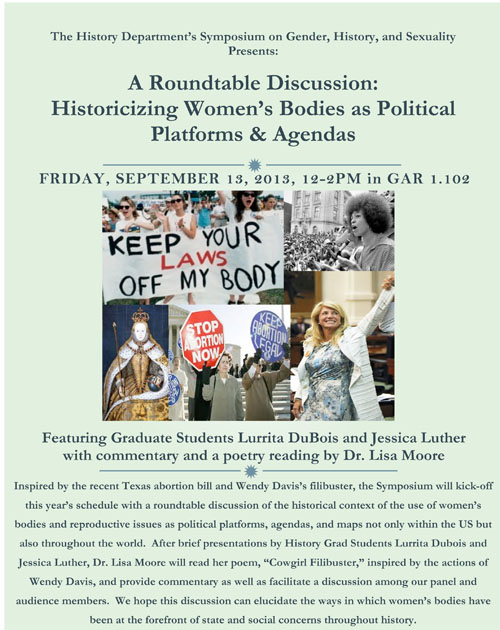 A Roundtable Discussion: Historicizing Women's Bodies as Political Platforms & Agendas