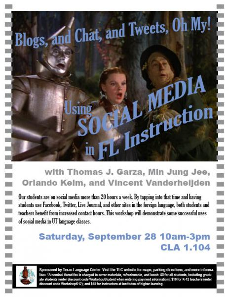 Blogs, and Chats, and Tweets, Oh My! Using Social Media in FL Instruction