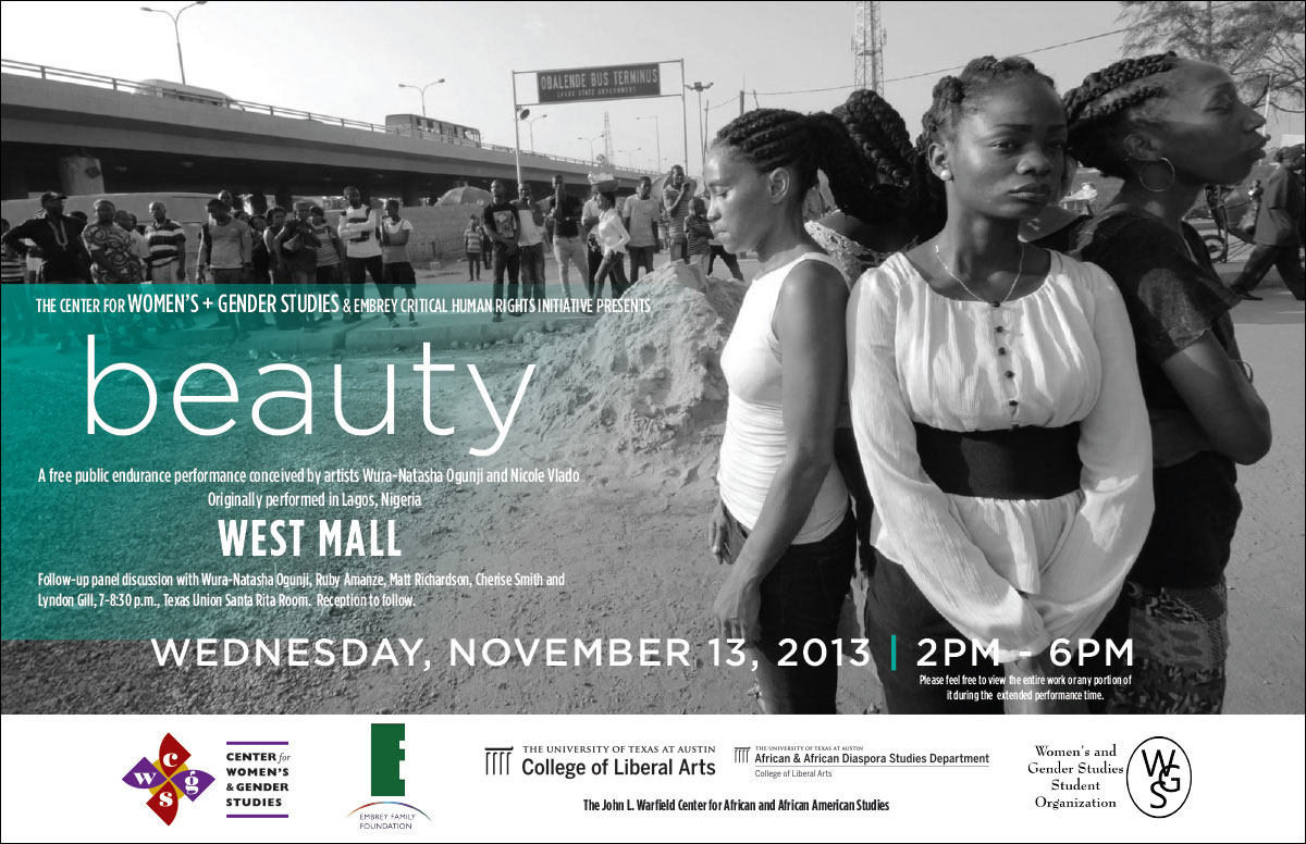 beauty - a Wura-Natasha Ogunji Public Performance on November 13