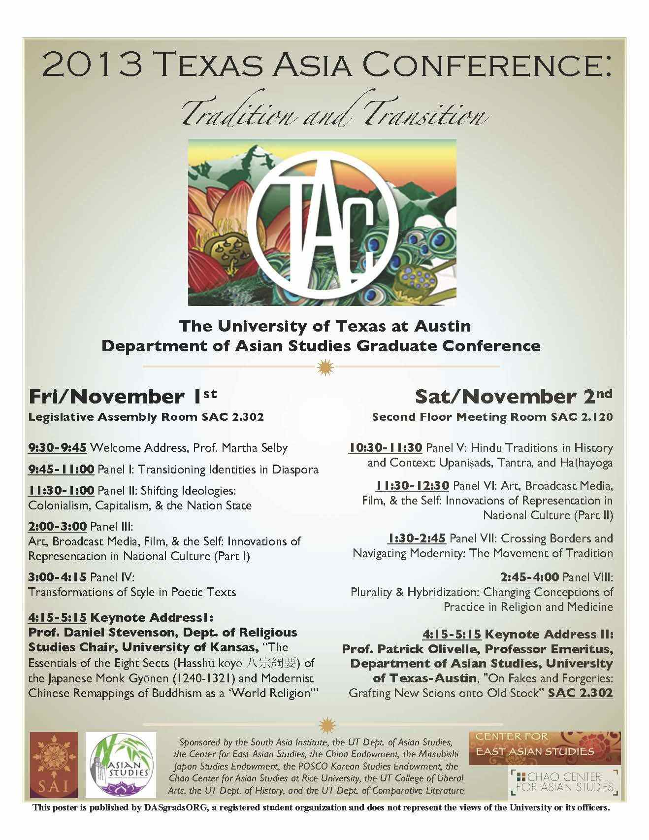 Texas Asia Conference 2013: November 1st - 2nd