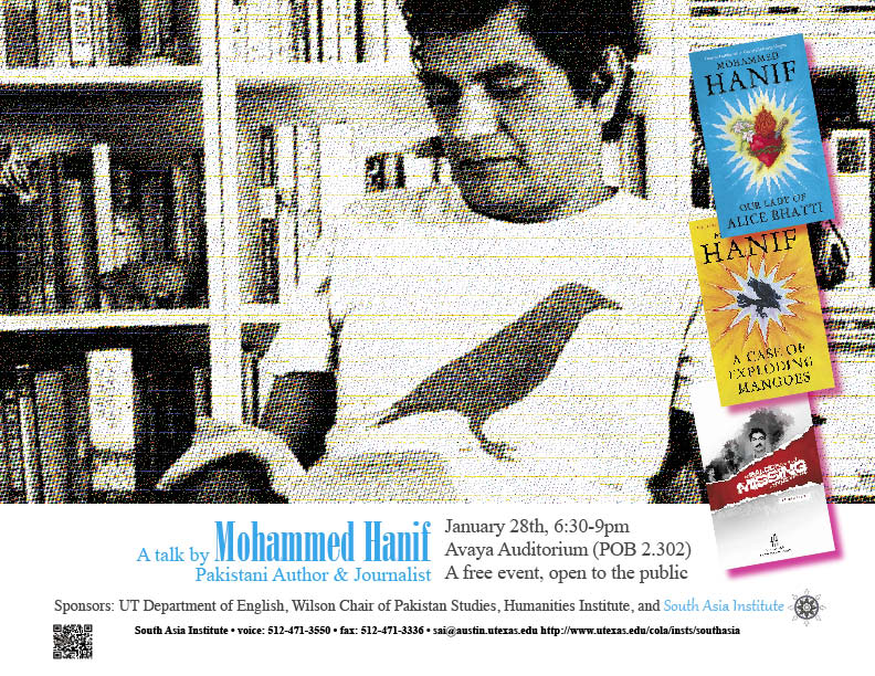A Public Talk by Pakistani Author and Journalist - Mohammed Hanif