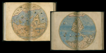 Tarih-i Hind-i garbi, Old World, 1600. Newberry Ayer MS 612, map 3. Tarih-i Hind-i garbi, New World, 1600. Newberry Ayer MS 612, map 2.
