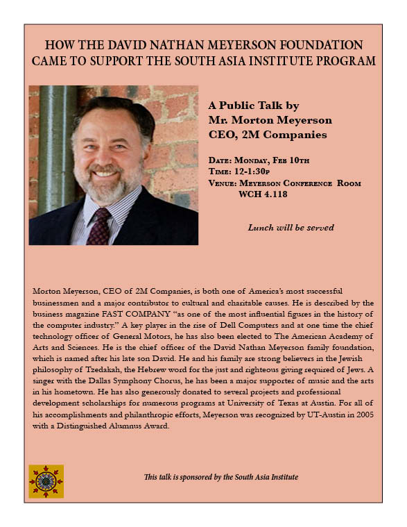 A Public Talk by Mr. Morton H Meyerson on