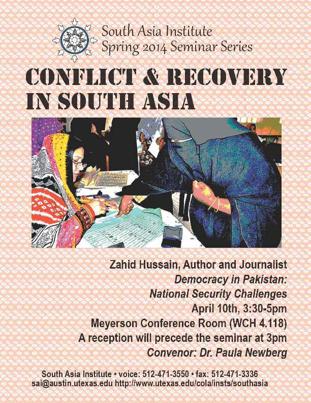 South Asia Seminar Series: 'Democracy in Pakistan: National Security Challenges'