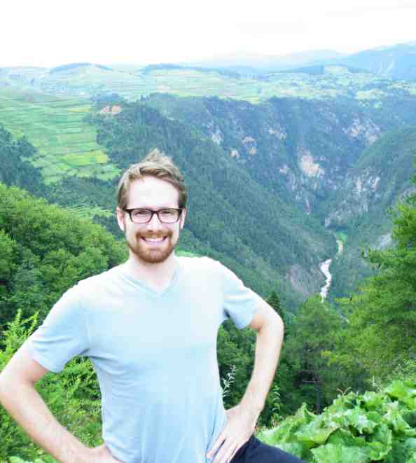 Ben at the Yunnan Province Gorge