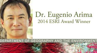 Dr. Arima Receives ESRI Award for Scientific Paper