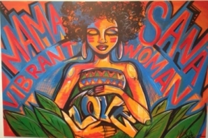 Graffiti artist Toofly participated in Rethinking Power & Resistance Conference (October 2012). She created this live art at the closing event that was also a benefit for Mamas of Color Rising.