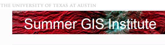 Register for the 2014 Summer GIS Institute