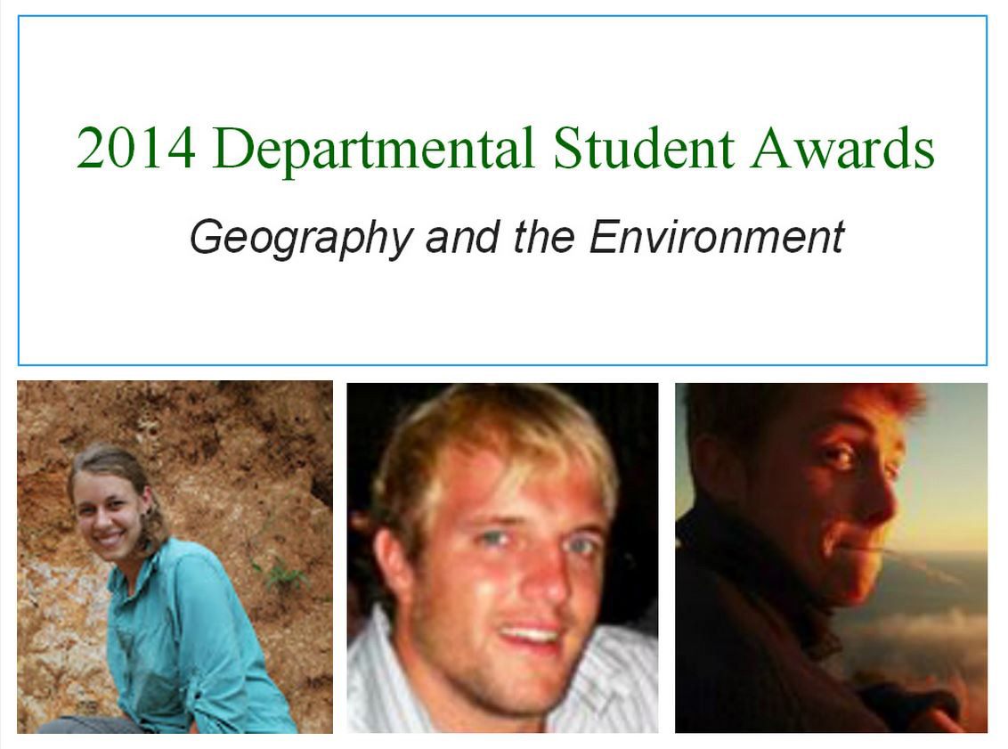 2014 Departmental Student Awards Announced