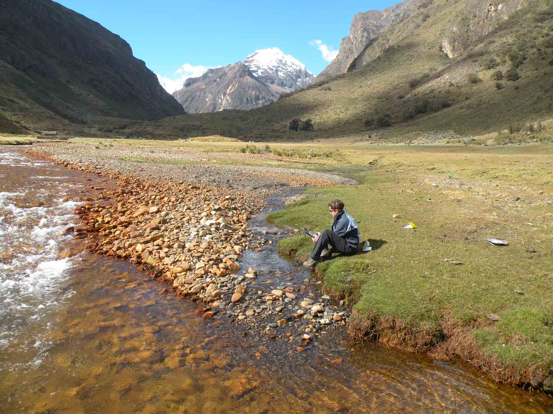 Molly Polk conducting field research in the high Andes of Peru