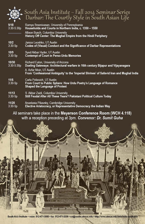 Fall 2014 Seminar Series