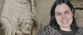 Harrington Dissertation Fellow Anna Taylor studies headless saints in medieval Latin verse for historical significance