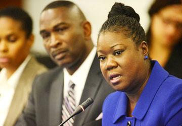 Sybrina Fulton, Trayvon Martin's mother.