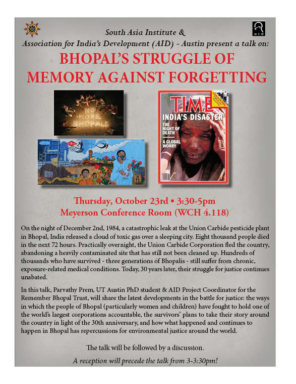 Bhopal's Struggle of Memory Against Forgetting