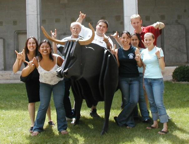 Dr. Adams and students in Maymester Study Abroad course, France