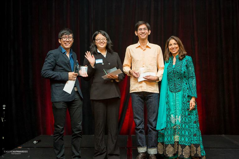 Pictured left to right: Riki Tsuji, Siqi Jiang, Marlon Hedrick, and Nahid Khataw from ACE Foundation. Photograph by Casey Chapman Ross Photography