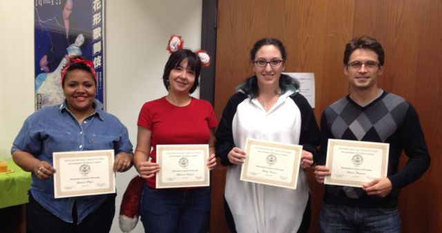 Department of Asian Studies honors graduate students at the 2014 Fall Festival awards ceremony