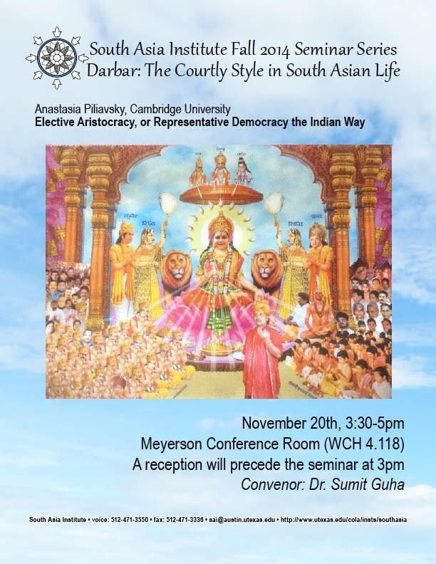 South Asia Seminar Series: Anastasia Piliavsky, University of Cambridge