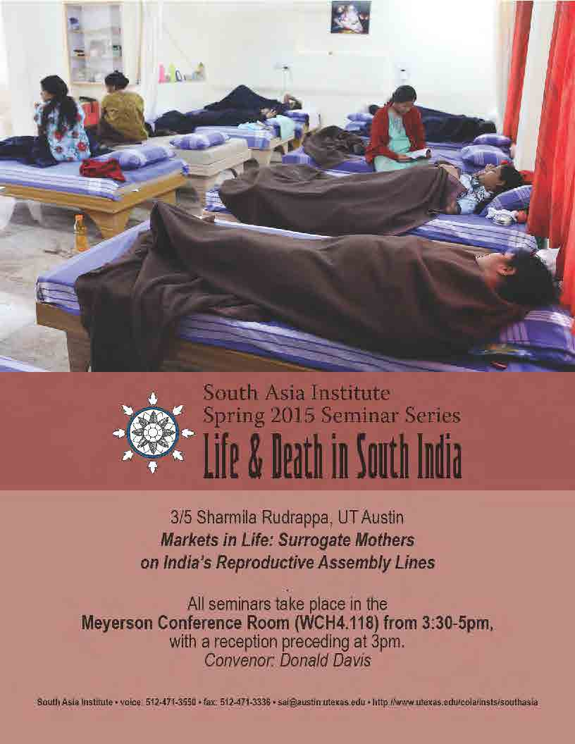 South Asia Seminar Series: Prof. Sharmila Rudrappa, UT Austin