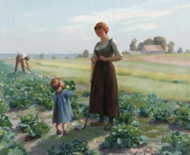 Aimé Perret, The Lettuce Patch, 1893