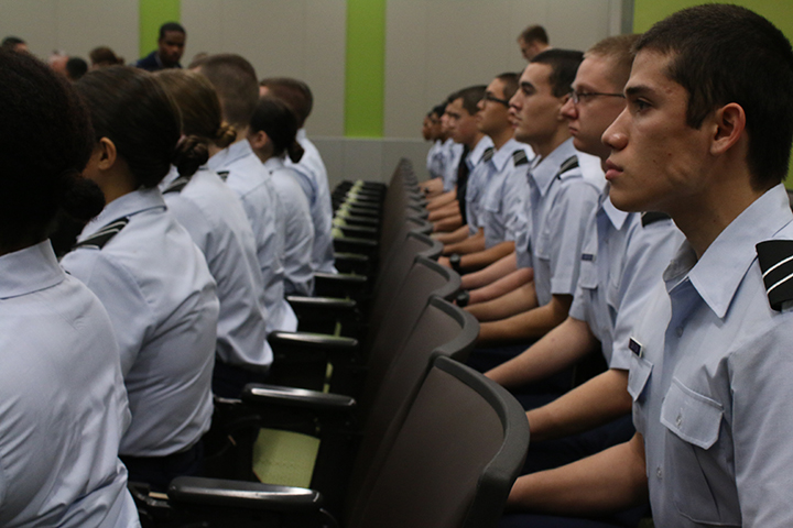 Each of these 23 cadets hopes to earn an Enrollment Allocation in order to attend Field Training this summer.