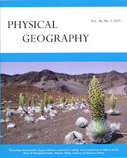 Professor Pérez Published in Physical Geography Journal