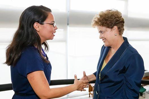 Giorleny Altamirano meets Brazilian President Dilma Rousseff