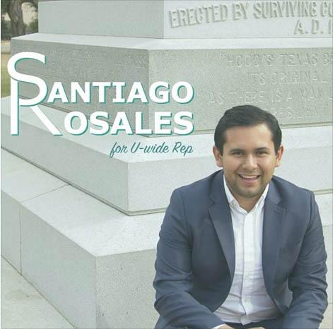 Santiago Rosales Elected U-Wide Rep