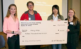 The class awarded $15,000 to Mercy Ships, funding approximately 60 life-saving surgeries in Africa.