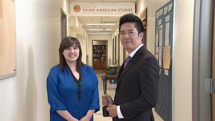 Rachel being interviewed by Vietface TV about her internship