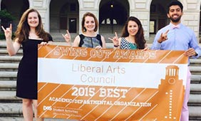 The Liberal Arts Council received a banner and $300 for being named the Best Academic/Department Organization on campus.