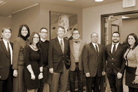 MALS faculty with former UT President Bill Powers