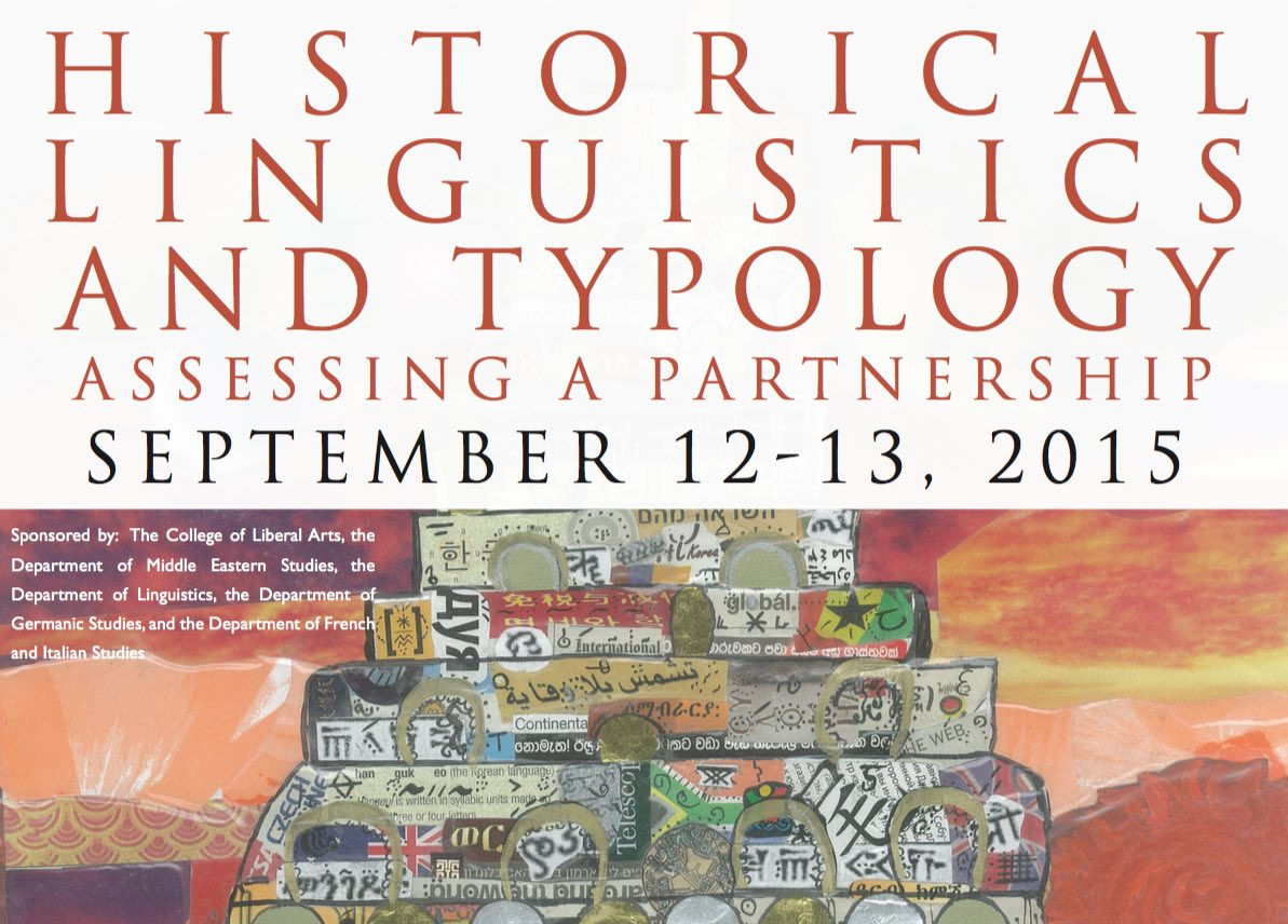 Poster for the Historical Linguistics and Typology conference