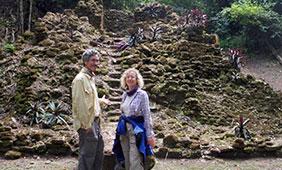 Professor Tim Beach and Professor Sheryl Luzzader-Beach in the tropical lowlands of Central America.