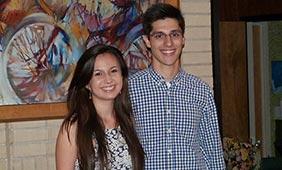 Irene Gomez and Maximiliano Rombado, recipients of the 2015-16 Larry Temple Scholarship